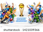 illustration of batsman player... | Shutterstock .eps vector #1421039366