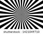 sunburst retro sun rays white... | Shutterstock .eps vector #1421049710