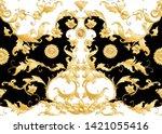 seamless pattern  background in ... | Shutterstock .eps vector #1421055416