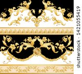 seamless pattern  background in ... | Shutterstock .eps vector #1421055419