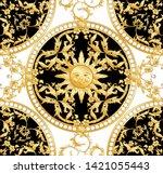 seamless pattern  background in ... | Shutterstock .eps vector #1421055443