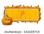 abstract halloween frame with... | Shutterstock . vector #142105714