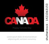 greeting card for canada day on ... | Shutterstock .eps vector #1421063153