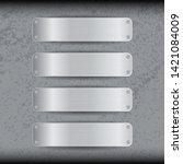 multi blank banner on abstract...   Shutterstock .eps vector #1421084009