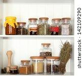 Variety Spices On Kitchen...