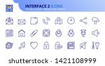 simple set of outline icons...