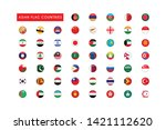 all asian flag countries round... | Shutterstock .eps vector #1421112620
