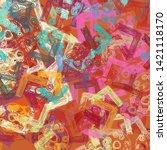 2d illustration. abstract... | Shutterstock . vector #1421118170