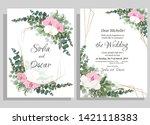 vector floral pattern for... | Shutterstock .eps vector #1421118383