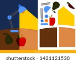 educational children game ... | Shutterstock .eps vector #1421121530