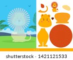 educational children game ... | Shutterstock .eps vector #1421121533