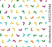 repeating seamless colorful... | Shutterstock .eps vector #1421131466