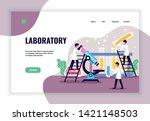 laboratory concept banner...