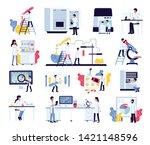 pharmaceutic laboratory... | Shutterstock .eps vector #1421148596