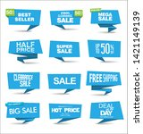 collection of colorful sale... | Shutterstock . vector #1421149139