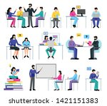 online education set with...   Shutterstock .eps vector #1421151383