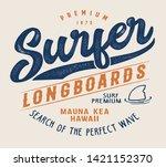 hawaii surf sport typography ... | Shutterstock .eps vector #1421152370