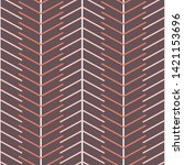 Stock vector herring bone stripes vector seamless pattern 1421153696