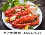 Alaskan King Crab Legs Cooked...