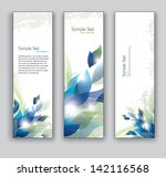 abstract floral banners. set of ...   Shutterstock .eps vector #142116568