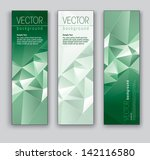 abstract banners. set of three... | Shutterstock .eps vector #142116580