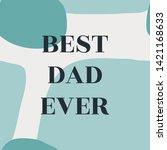 simple typographic design... | Shutterstock .eps vector #1421168633