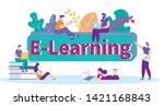 receive information studying... | Shutterstock .eps vector #1421168843