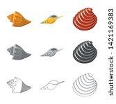 vector illustration of animal... | Shutterstock .eps vector #1421169383