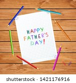 happy fathers day typography... | Shutterstock .eps vector #1421176916