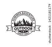 vintage adventure badges ... | Shutterstock .eps vector #1421181179