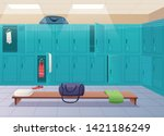 School Changing Room. College...