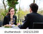 businesspeople having business... | Shutterstock . vector #142121200