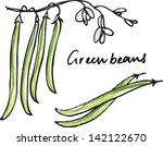 fresh green beans whole  ... | Shutterstock .eps vector #142122670