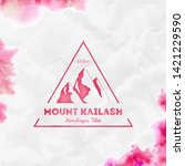 kailash logo. triangular... | Shutterstock .eps vector #1421229590