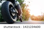 motorcycle in a sunny ... | Shutterstock . vector #1421234600