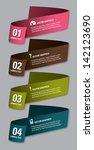 vector numbered banners. modern ... | Shutterstock .eps vector #142123690