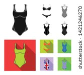 isolated object of bikini and...   Shutterstock .eps vector #1421246270