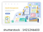 wealth management vector ... | Shutterstock .eps vector #1421246603