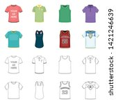 vector design of clothes and... | Shutterstock .eps vector #1421246639