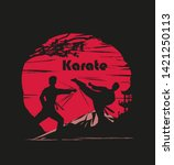 karate occupations abstraction... | Shutterstock . vector #1421250113