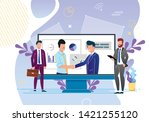 continuous cooperation and... | Shutterstock .eps vector #1421255120