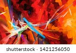 abstract colorful oil painting... | Shutterstock . vector #1421256050