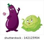 cartoon vegetables with... | Shutterstock .eps vector #142125904
