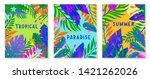 set of summer vector... | Shutterstock .eps vector #1421262026