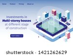 investments in multi storey... | Shutterstock .eps vector #1421262629