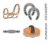 vector design of horseback and... | Shutterstock .eps vector #1421262899