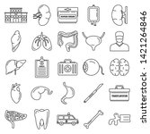 transplantation organ icons set....   Shutterstock .eps vector #1421264846