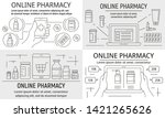 online pharmacy banner set.... | Shutterstock .eps vector #1421265626