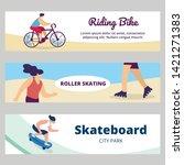 summer time sports activity....   Shutterstock .eps vector #1421271383