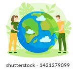 people take care about green... | Shutterstock .eps vector #1421279099